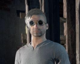 パンクなサングラスを装備