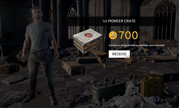 1st PIONEER CRATE(パブジースキンガチャ)