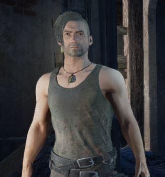Dirty Tank-top(Grey)のスキンを着用した男性キャラクター