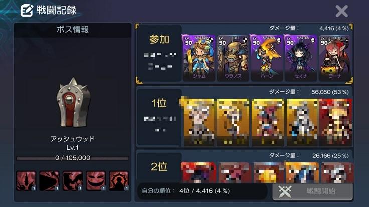 L.O.D 戦闘記録 ボス情報