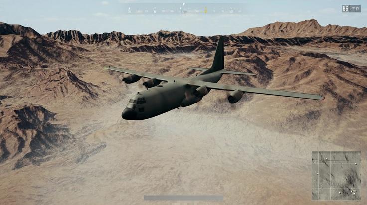 PUBG砂漠飛行機