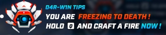 D4R-W1N TIPS YOU ARE FREEZING TO DEATH! HOLD Q AND CRAFT A FIRE NOW!