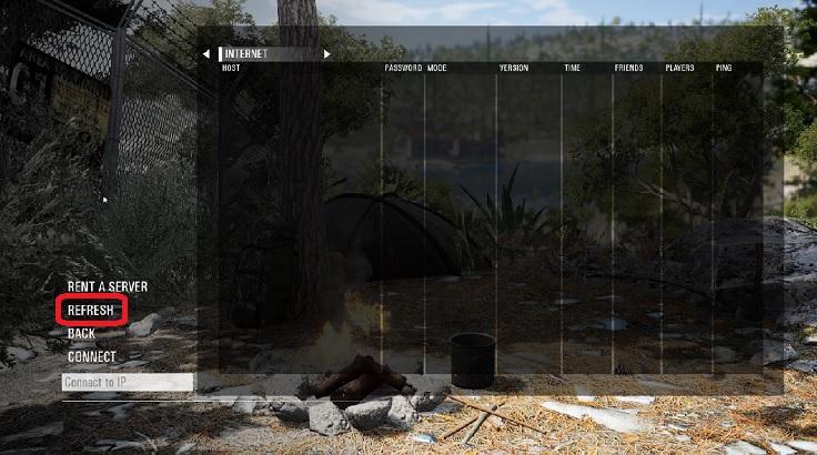 スカムのサーバー選択画面