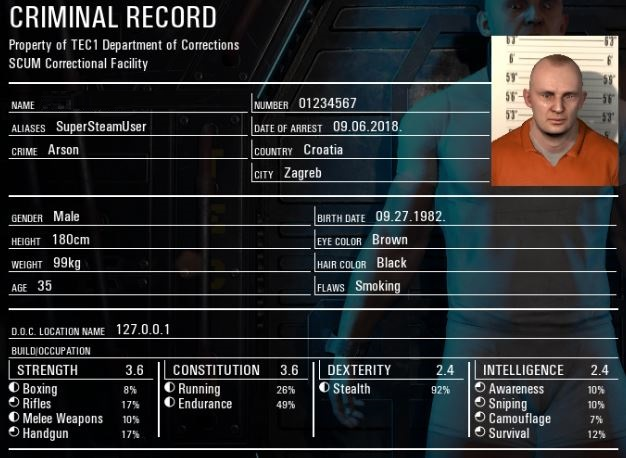 SCUM CRIMINAL RECORD